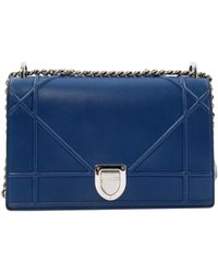 b009c9c333ae Lyst - Dior Pre-owned Ama Velvet Crossbody Bag in Blue