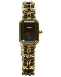 Chanel - Pre-owned Première Other Gold Plated Watches - Lyst