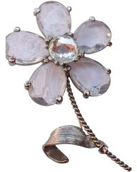 Dior - Vintage Silver Metal Pins & Brooches - Lyst