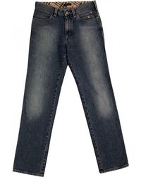 Burberry - Pre-owned Blue Cotton Jeans - Lyst