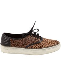 The Kooples - Pony-style Calfskin Trainers - Lyst