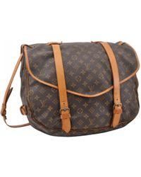 Louis Vuitton - Pre-owned Saumur Cloth Handbag - Lyst
