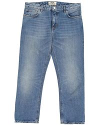 Acne Studios - Pre-owned Blue Cotton Jeans Pop - Lyst