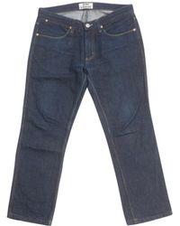 Acne Studios - Jeans In Cotone Blu - Lyst