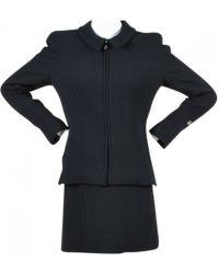 Chanel - Wolle Kostüm - Lyst