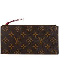 abfbd17869ed Lyst - Louis Vuitton Monogram Partition Wristlet Brown in Natural