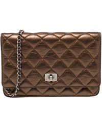 Chanel - Pochette Wallet on Chain en cuir - Lyst