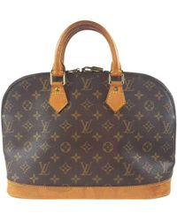 Louis Vuitton - Pre-owned Alma Cloth Handbag - Lyst