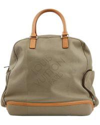 Louis Vuitton - Khaki Cloth Travel Bag - Lyst