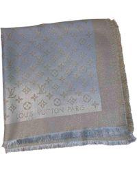 Louis Vuitton Châle Monogram Shine Beige Silk