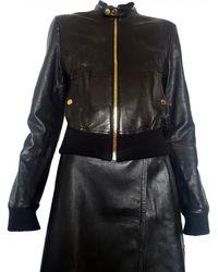 Yves Salomon - Pre-owned Leather Biker Jacket - Lyst