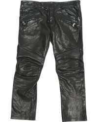 Balmain - Leather Trousers - Lyst