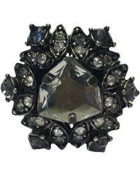 Lanvin - Silver Metal Ring - Lyst