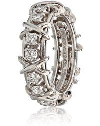 Tiffany & Co. - Schlumberger White Platinum Ring - Lyst