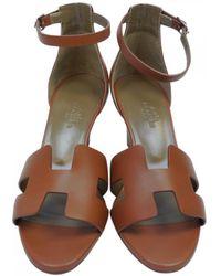 Hermès - Pre-owned Legend Leather Sandals - Lyst