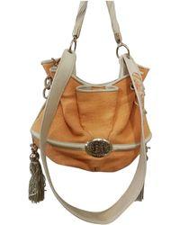 Lancel - Brigitte Bardot Orange Cloth Handbag - Lyst
