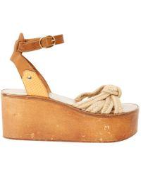 Étoile Isabel Marant - Brown Wood Sandals - Lyst