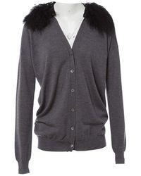 Miu Miu - Grey Wool Knitwear - Lyst