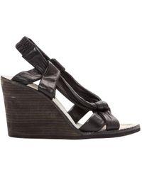 Maison Margiela - Black Leather Sandals - Lyst
