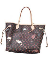 Louis Vuitton - Pre-owned Neverfull Multicolour Cloth Handbags - Lyst