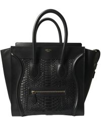 Céline - Pre-owned Luggage Python Handbag - Lyst