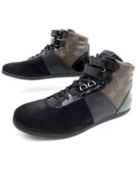 louis vuitton trainers womens. louis vuitton | pre-owned cloth trainers lyst womens