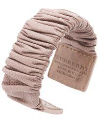 Burberry - Leather Bracelet - Lyst