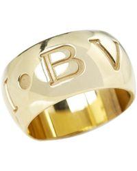 BVLGARI - Yellow Yellow Gold Ring - Lyst