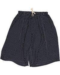 Comme des Garçons - Navy Viscose Shorts - Lyst