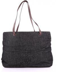b2f612ecf605 Chanel Pre-owned Blue Denim - Jeans Handbags in Blue - Lyst