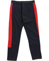 Dries Van Noten - Navy Wool Trousers - Lyst
