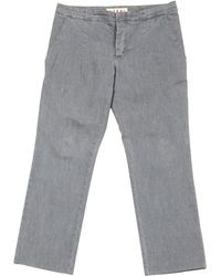 Marni - Pre-owned Grey Cotton Jeans - Lyst