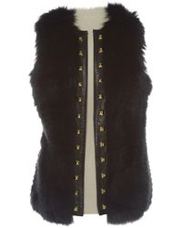 Philipp Plein - Leather Cardi Coat - Lyst