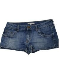 Maje - Pre-owned Blue Cotton Shorts - Lyst