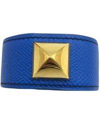Hermès - Médor Leather Bracelet - Lyst