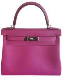 Hermès - Kelly 28 Leather Handbag - Lyst