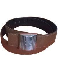 Hermès - Cuir Seul / Leather Strap Beige Leather - Lyst