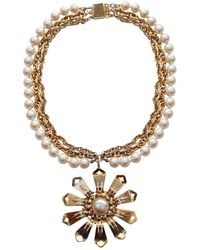 Moschino - Vintage Gold Metal Necklace - Lyst