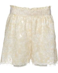 Chanel - Beige Cotton Shorts - Lyst
