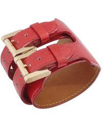 Louis Vuitton - Monogram Leather Bracelet - Lyst