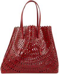 Alaïa - Leather Shoulder Bag - Lyst