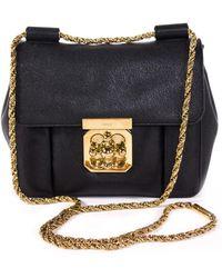 99c2ae07ebaa Chloé - Pre-owned Elsie Black Leather Handbags - Lyst