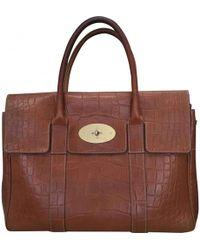 fa3173503d Mulberry Pre-owned Alexa Brown Leather Handbags in Brown - Lyst