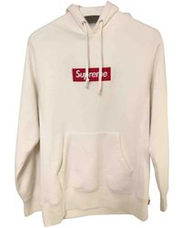 4e59988b75 Supreme - Pre-owned White Cotton Knitwear - Lyst