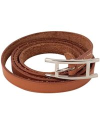 Hermès - Pre-owned Behapi Leather Bracelet - Lyst