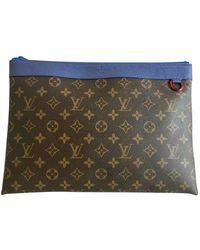 Louis Vuitton Sac Pochette A4 en Toile Marron - Multicolore
