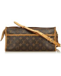 Louis Vuitton - Pre-owned Popincourt Cloth Handbag - Lyst