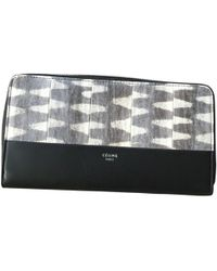 Céline - Black Exotic Leather Wallets - Lyst