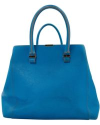 Victoria Beckham - Blue Leather Handbag - Lyst