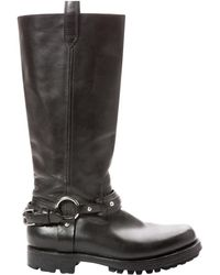 Polo Ralph Lauren - Pre-owned Leather Biker Boots - Lyst